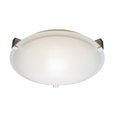 Brayden 3-Light Flush Mount Finish: Brushed Nickel