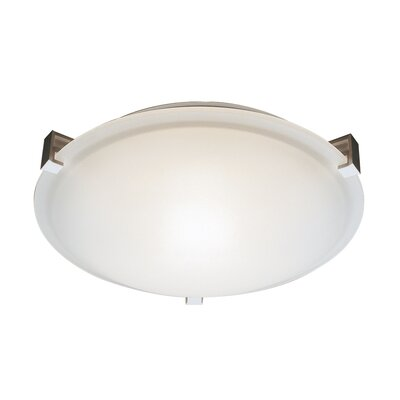 Braydon 2-Light Flush Mount Finish: Brushed Nickel