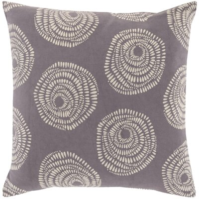 Millett 100% Cotton Pillow Cover Size: 20 H x 20 W x 1 D, Color: Gray