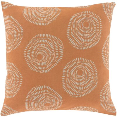 Millett 100% Cotton Pillow Cover Size: 20 H x 20 W x 1 D, Color: OrangeGray