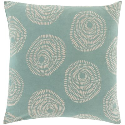Millett 100% Cotton Pillow Cover Size: 18 H x 18 W x 0.25 D, Color: BlueNeutral