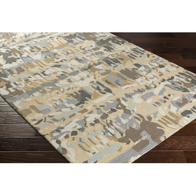 Detroit Hand-Tufted Beige/Gray Area Rug Rug Size: Rectangle 5 x 76