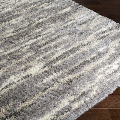 Ericka Gray/Brown Area Rug Rug Size: 8 x 10