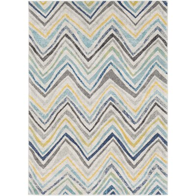 Evangelina Blue/Gray Area Rug Rug Size: Rectangle 53 x 73