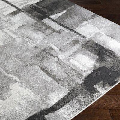 Fern Black/Gray Area Rug Rug Size: 711 x 10