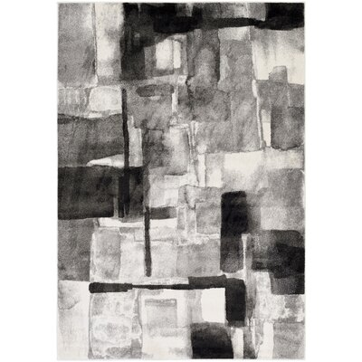 Devaney Black/Gray Area Rug Rug Size: Rectangle 53 x 76
