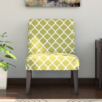 Rosario Slipper Chair Upholstery: Green Lattice