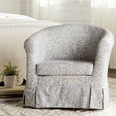 Cayeman Skirted Barrel Chair Upholstery: Gray