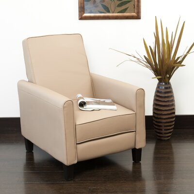 Lana Manual Recliner Upholstery: Camel