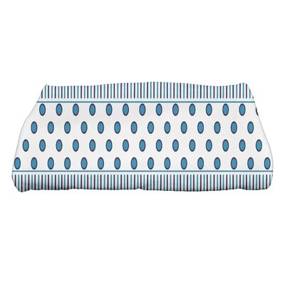 Comb Bath Towel Color: Aqua/Navy Blue