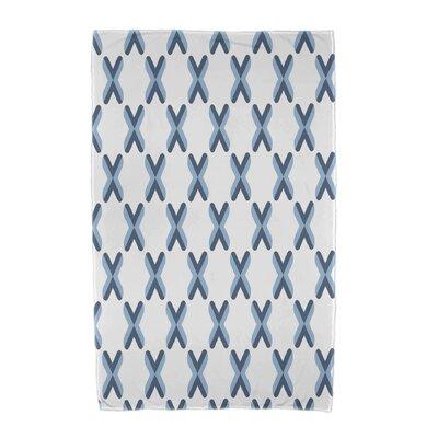 Upscale Getaway Criss Cross Beach Towel Color: Light Blue
