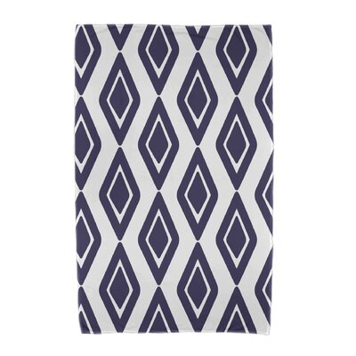 Upscale Getaway Diamond Jive 1 Beach Towel Color: Navy Blue