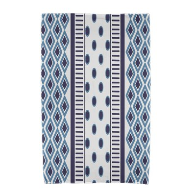 Upscale Getaway Scrambled Beach Towel Color: Navy Blue