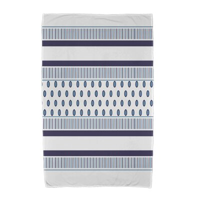Comb Beach Towel Color: Navy Blue/Light Blue