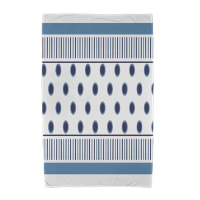 Upscale Getaway Center Stripe Beach Towel Color: Navy Blue