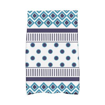 Scrambled Hand Towel Color: Navy Blue