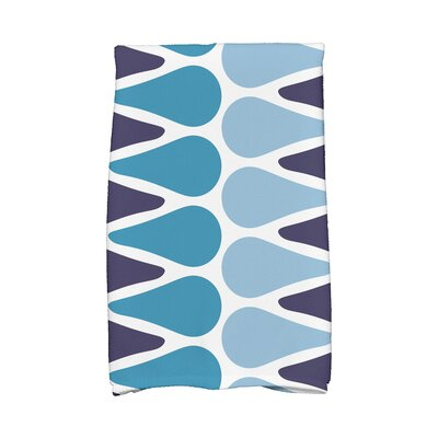 Picks Hand Towel Color: Navy/Light Blue/Aqua