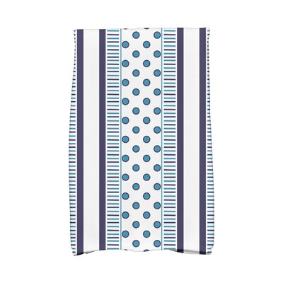 Comb Hand Towel Color: Navy/Light Blue