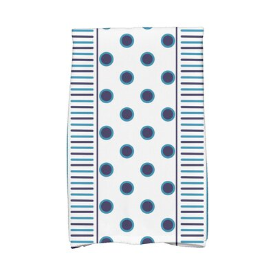 Center Hand Towel Color: Navy Blue