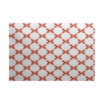 Abbie Orange Indoor/Outdoor Area Rug Rug Size: 5 x 7
