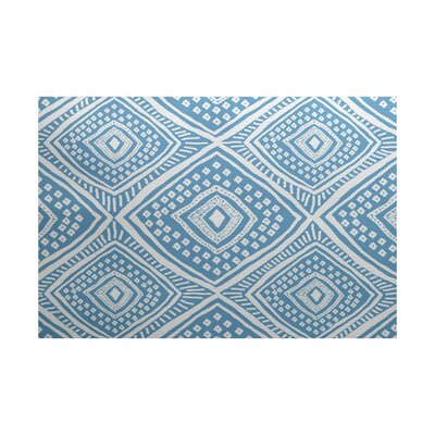 Abbie Flat Woven Blue Indoor/Outdoor Area Rug Rug Size: Rectangle 3 x 5