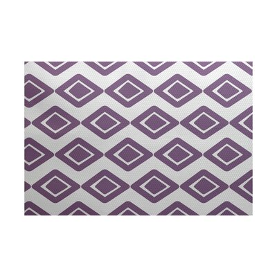Abbie Purple Indoor/Outdoor Area Rug Rug Size: 3 x 5
