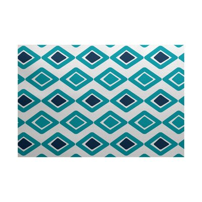 Elaine Blue Indoor/Outdoor Area Rug Rug Size: 4 x 6