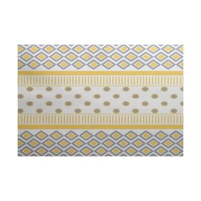 Elaine Yellow/Gray Indoor/Outdoor Area Rug Rug Size: 3 x 5