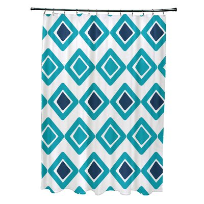 Doretta Diamond Shower Curtain Color: Aqua