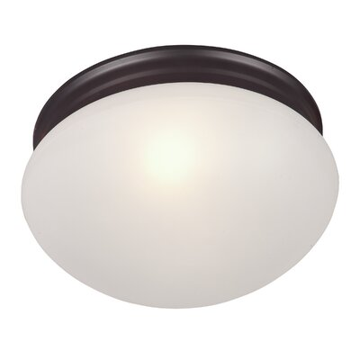 Brenden 2-Light Glass Shade Flush Mount