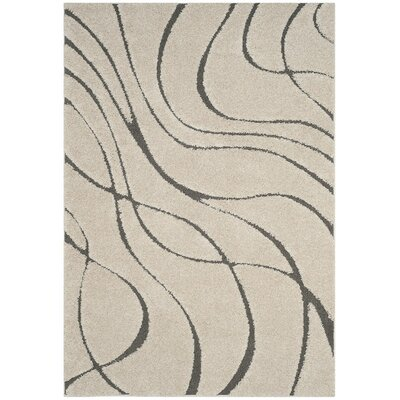 Enrique Cream/Gray Area Rug Rug Size: 33 x 53