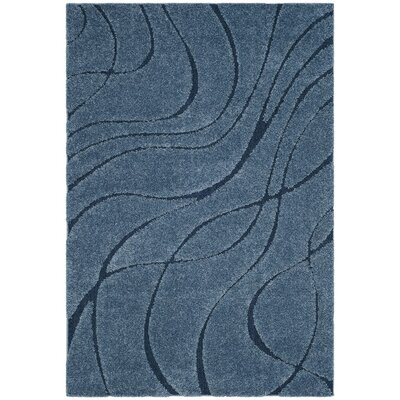 Enrique Blue Area Rug Rug Size: Rectangle 4 x 6