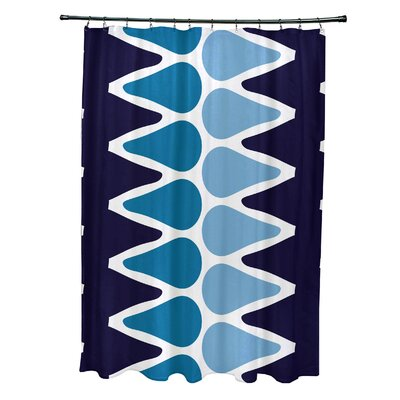 Doretta Picks Shower Curtain Color: Navy Blue/Light Blue