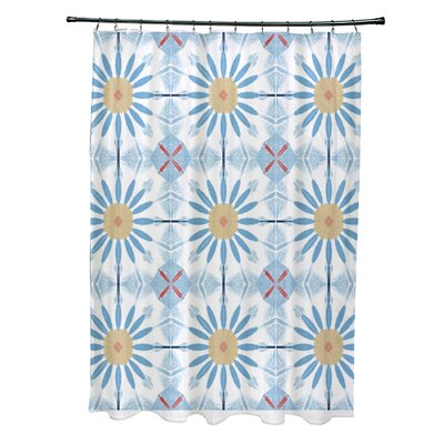 Doretta Shower Curtain Color: Blue