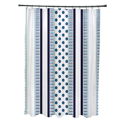 Doretta Comb Shower Curtain Color: Navy Blue