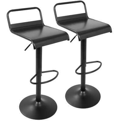 Baucom Adjustable Height Swivel Bar Stool