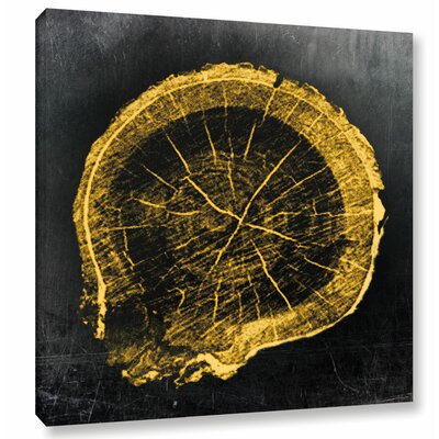 'Gold Growth' Graphic Art on Wrapped Canvas Size: 10