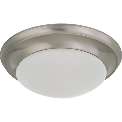 Bridgehampton 1-Light Flush Mount Finish: Brushed Nickel