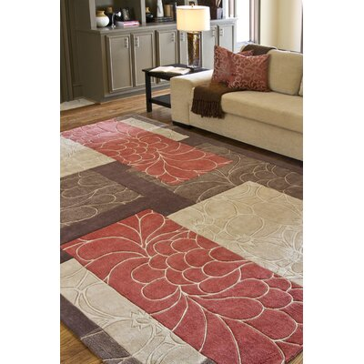 Deveau Brown/Red Rug Rug Size: Rectangle 8 x 11