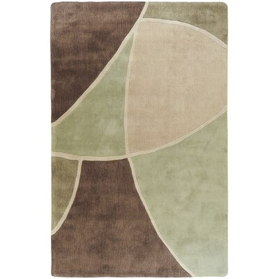 Deveau Brown/Green Rug Rug Size: Rectangle 9 x 13