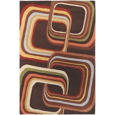 Wyandotte Chocolate Area Rug Rug Size: Rectangle 5 x 8