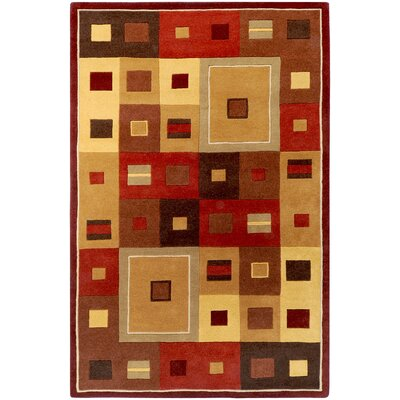 Dewald Burgundy Area Rug Rug Size: Rectangle 9 x 12
