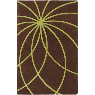 Dewald Handmade Chocolate Area Rug Rug Size: Rectangle 76 x 96