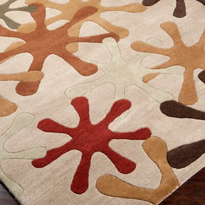 Diana Taupe Area Rug Rug Size: Rectangle 4 x 6