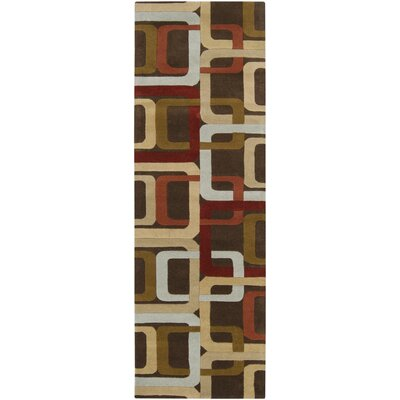 Dewald Brown Area Rug Rug Size: 4 x 6