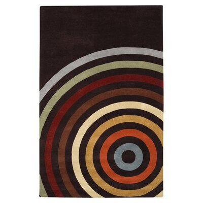 Dewald Multi and Espresso Area Rug Rug Size: 76 x 96