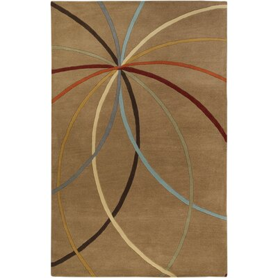Dewald Mocha Area Rug Rug Size: Rectangle 4 x 6