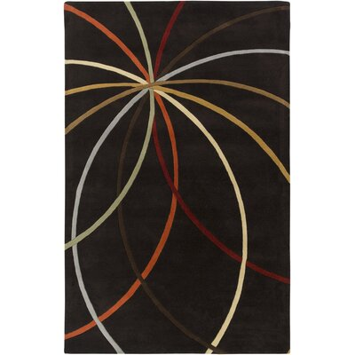 Dewald Chocolate Area Rug Rug Size: Rectangle 76 x 96