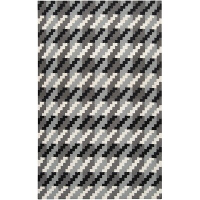 Marion Jet Black/Foggy Area Rug Rug Size: Rectangle 8 x 11