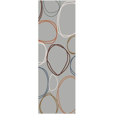 Deveau Gray Area Rug Rug Size: Runner 26 x 8
